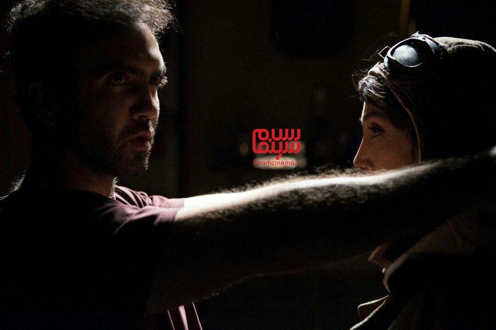 همایون غنیزاده و هدیه تهرانی در پشت صحنه فیلم «مسخره باز»