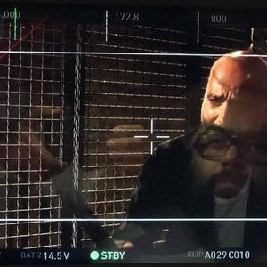مرتضی علی عباس میرزایی و سعید داخ در پشت صحنه فیلم «خون خدا»