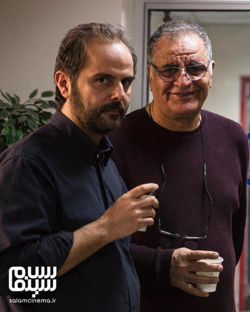 رسول صدرعاملی و علی مصفا در پشت صحنه فیلم «سال دوم دانشکده من»