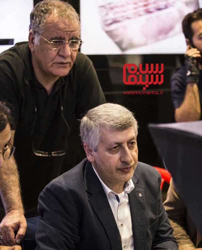 رسول صدرعاملی و مسعود ردایی در پشت صحنه فیلم «سال دوم دانشکده من»