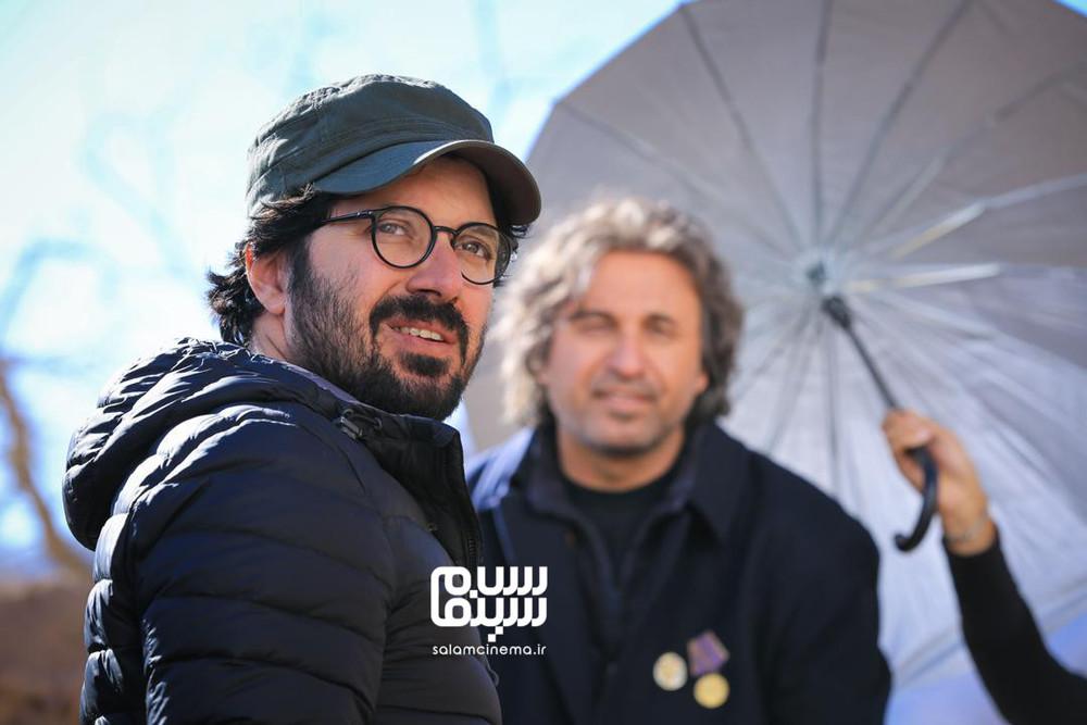 هومن بهمنش در پشت صحنه فیلم «سمفونی نهم»