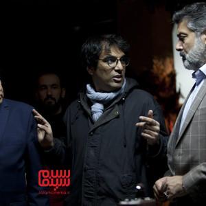 رضا زهتابچیان، حمیدرضا پگاه و احسان امانی در پشت صحنه فیلم «دیدن این فیلم جرم است!»
