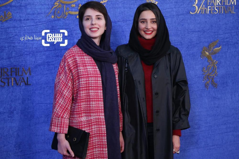 سها نیاستی و فرشته ارسطویی در اکران فیلم «سال دوم دانشکده من» در جشنواره فجر 37