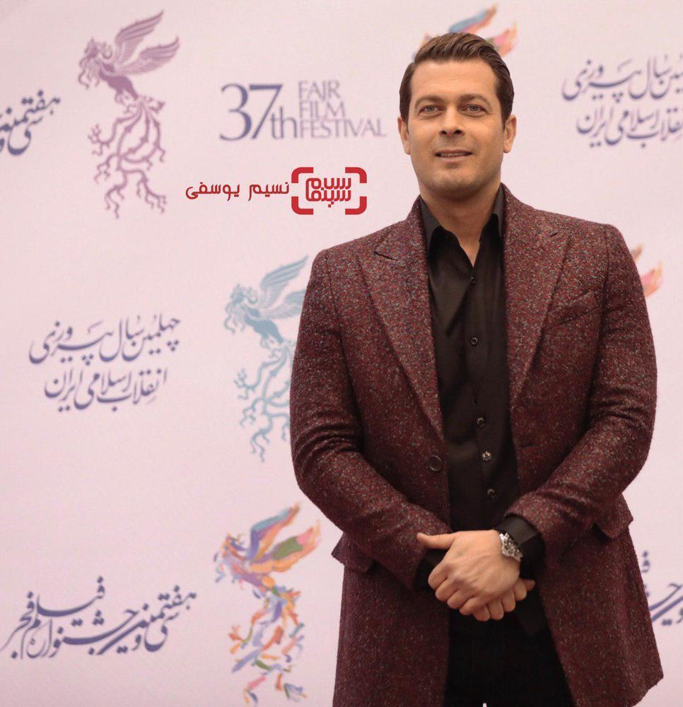 پژمان بازغی در افتتاحیه جشنواره فجر 37