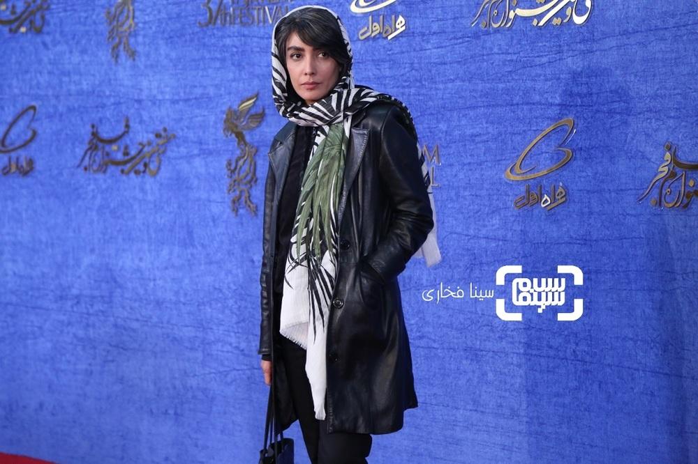 لیلا زارع در اکران فیلم «معکوس» در جشنواره فیلم فجر 37