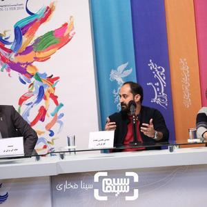 فرزاد حسنی، مهدی بخشی مقدم و عطا مهراد در اکران مستند «خانه ای برای تو» در جشنواره فجر 37