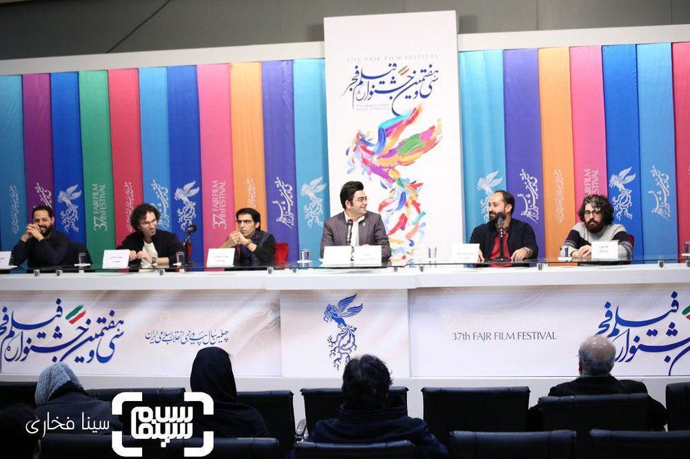 فرزاد حسنی، مهدی بخشی مقدم، عطا مهراد، مهدی شامحمدی در اکران مستند «خانه ای برای تو» در جشنواره فجر 37