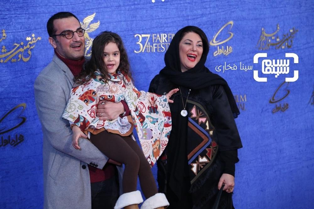 لاله اسکندری، کوروش سلیمانی و آویسا سجادی در اکران فیلم «تیغ و ترمه» در جشنواره فجر 37