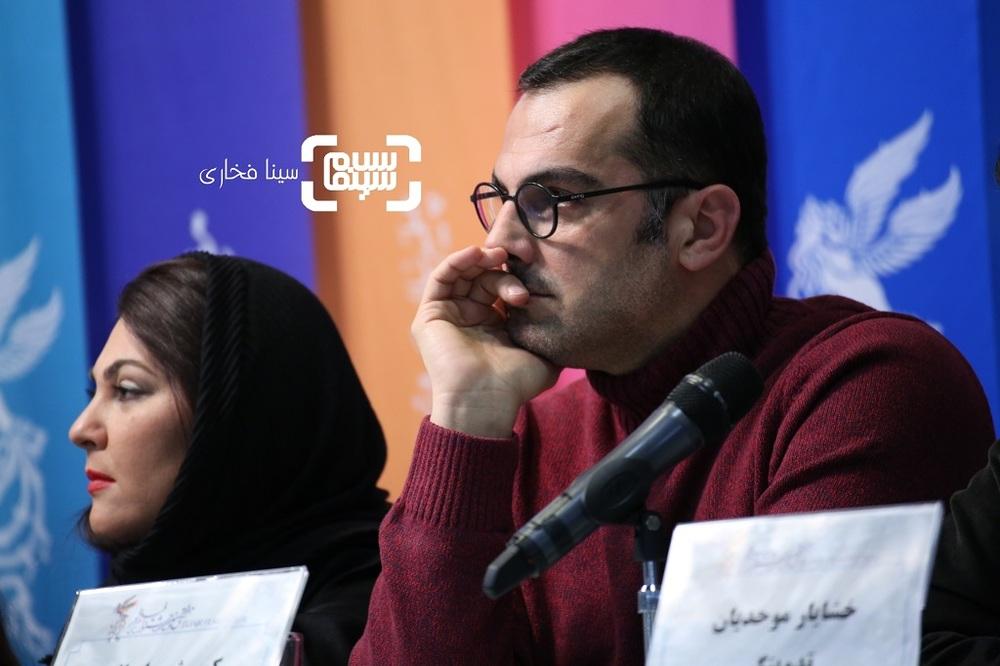 کوروش سلیمانی  در نشست خبری فیلم «تیغ و ترمه» در جشنواره فیلم فجر 37