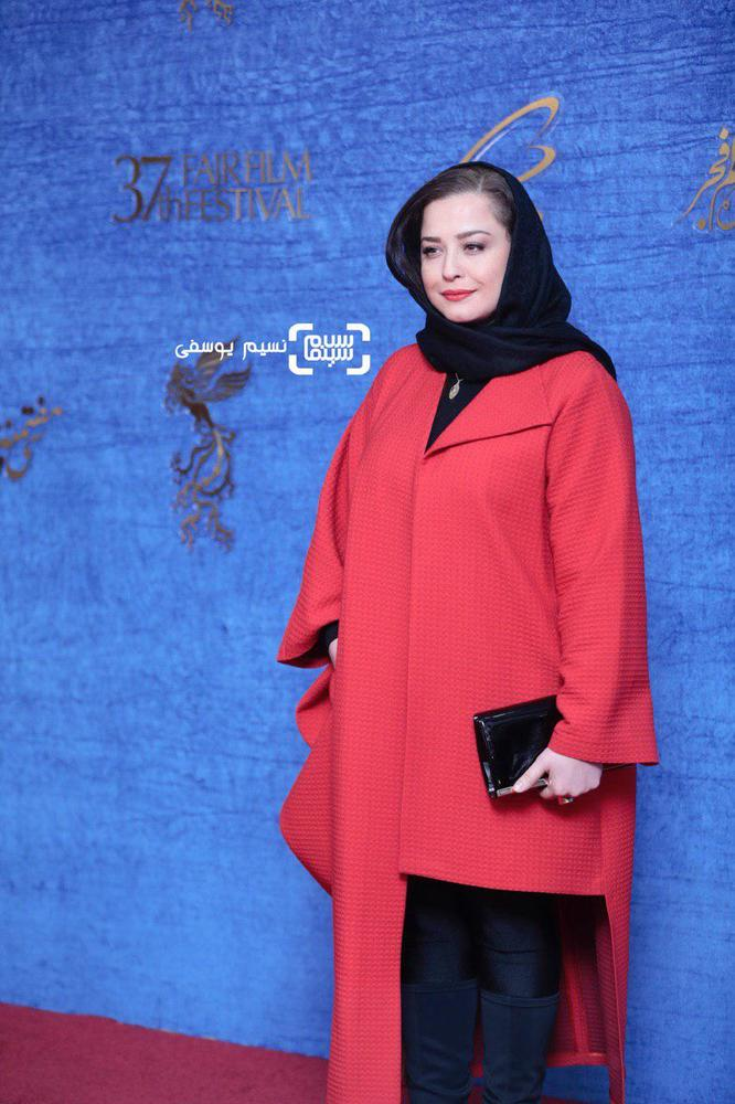 مهراوه شریفی نیا در اکران فیلم «درخونگاه» در جشنواره فجر 37