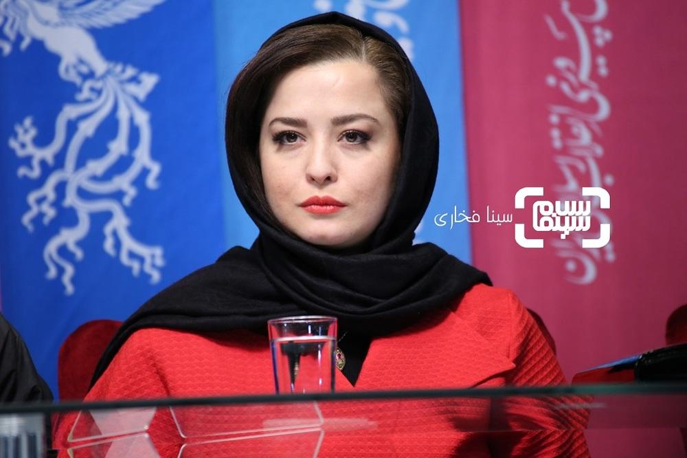 مهراوه شریفی نیا در نشست خبری فیلم سینمایی «درخونگاه» در جشنواره فیلم فجر 37