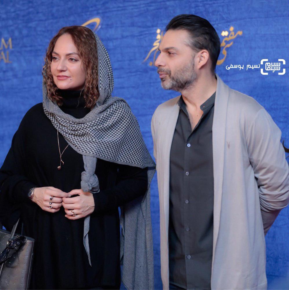 پیمان معادی و مهناز افشار در اکران فیلم «ناگهان درخت» در جشنواره فجر 37