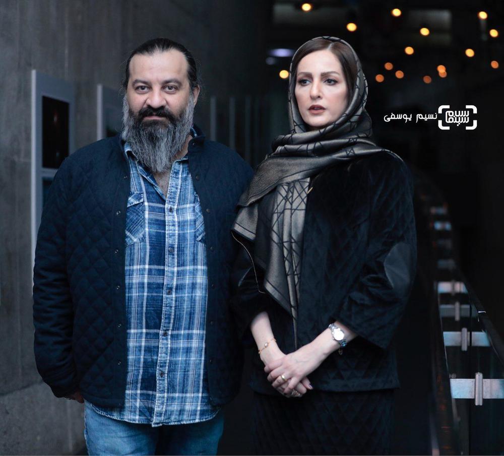 شقایق دهقان و همسرش مهراب قاسم خانی در اکران فیلم «ناگهان درخت» در جشنواره فجر 37