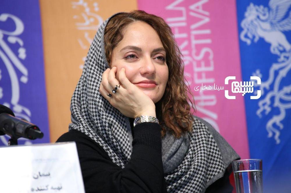 مهناز افشار در نشست خبری فیلم «ناگهان درخت» در جشنواره فیلم فجر 37