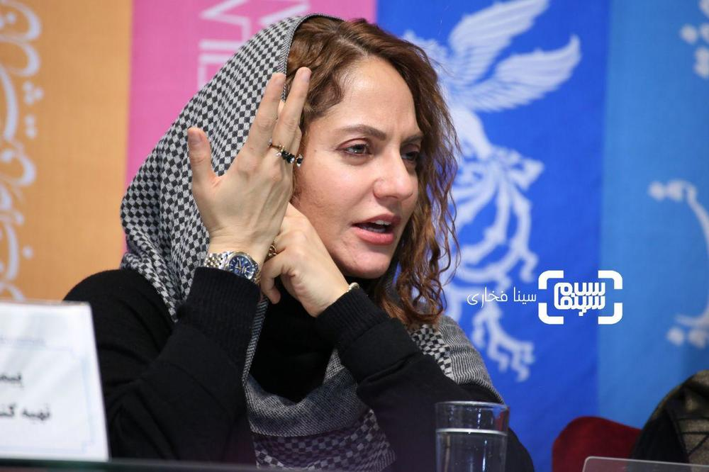 مهناز افشار در نشست خبری فیلم «ناگهان درخت» در جشنواره فجر 37