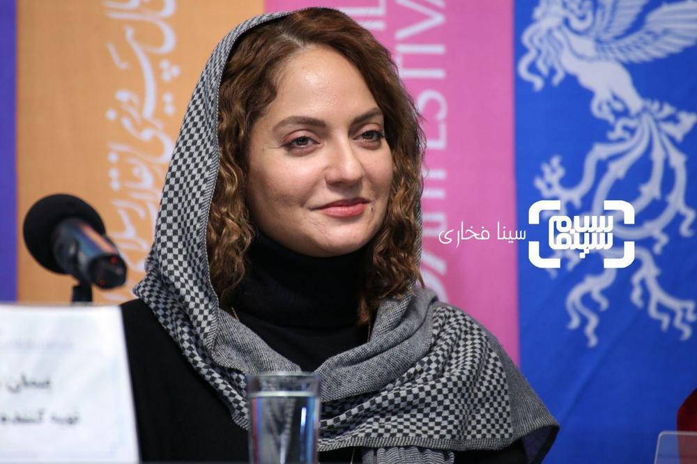 مهناز افشار در نشست خبری «ناگهان درخت» در جشنواره فجر 37