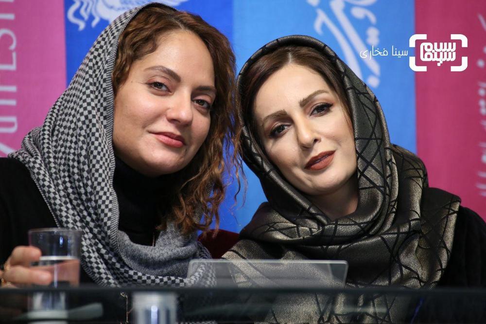 شقایق دهقان و مهناز افشار در نشست خبری فیلم «ناگهان درخت» در جشنواره فجر 37