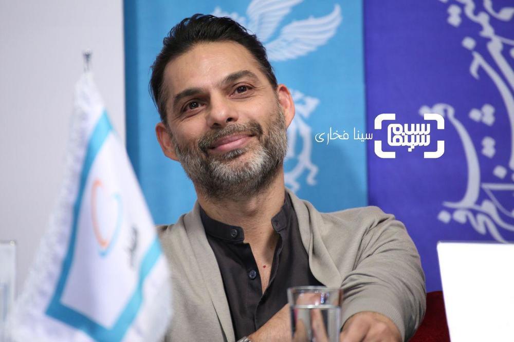 پیمان معادی در نشست خبری «ناگهان درخت» در جشنواره فیلم فجر 37