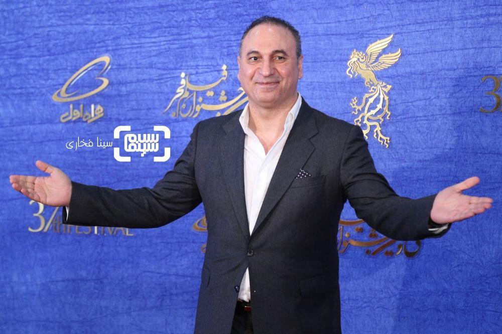 حمید فرخ نژاد در اکران فیلم «سمفونی نهم» در جشنواره فجر 37