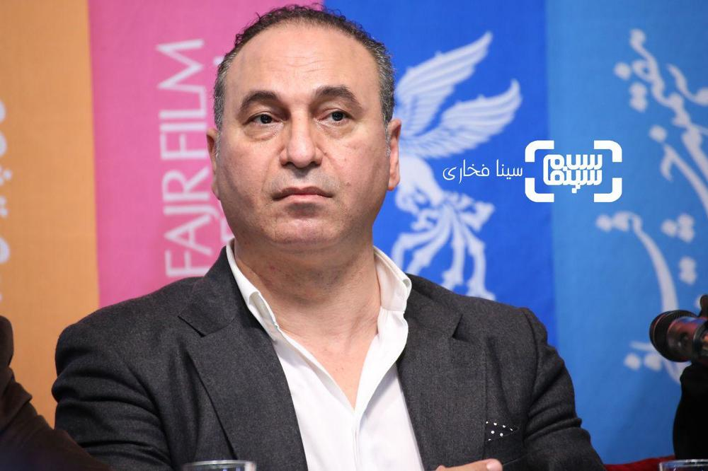 حمید فرخ نژاد در نشست خبری فیلم «سمفونی نهم» در جشنواره فیلم فجر 37
