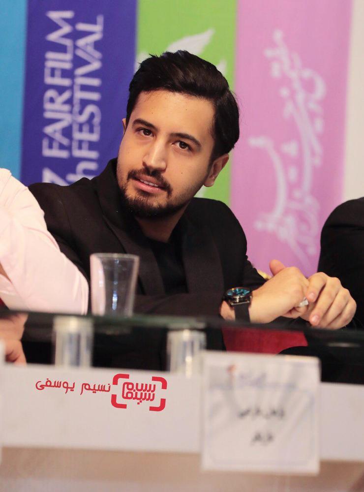 مهرداد صدیقیان در نشست خبری فیلم «سمفونی نهم» در جشنواره فجر 37