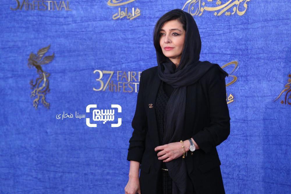 ساره بیات در اکران فیلم «سمفونی نهم» در جشنواره فیلم فجر 37