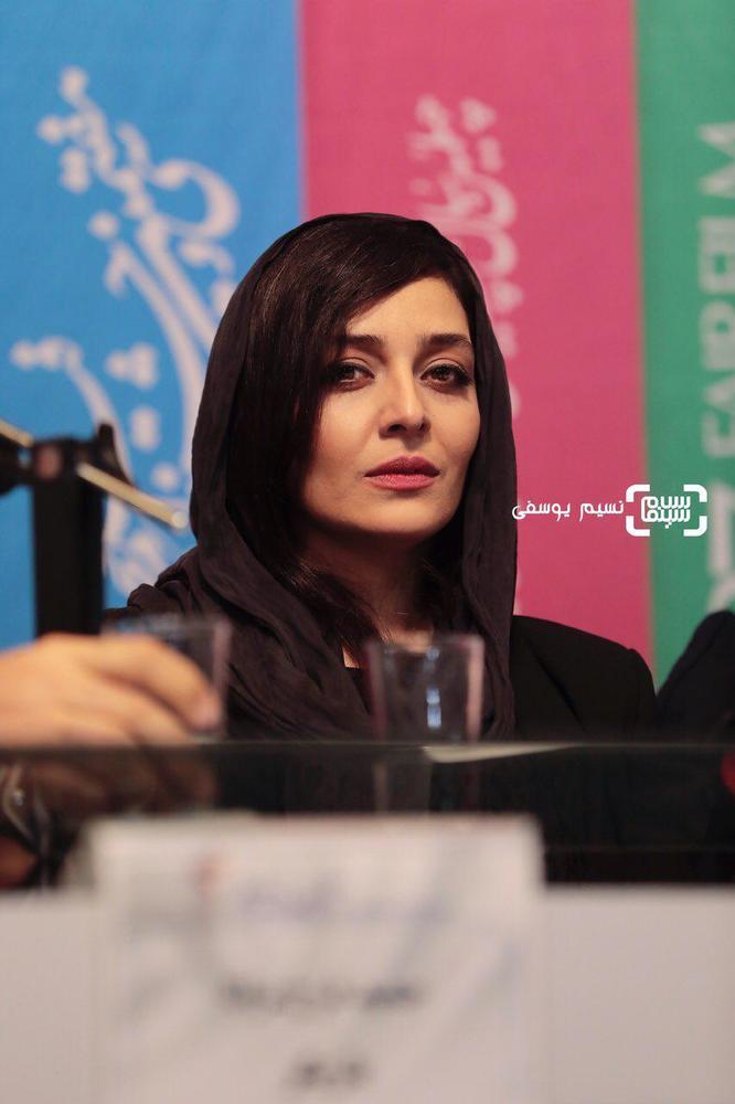 ساره بیات در نشست خبری فیلم «سمفونی نهم» در جشنواره فیلم فجر 37