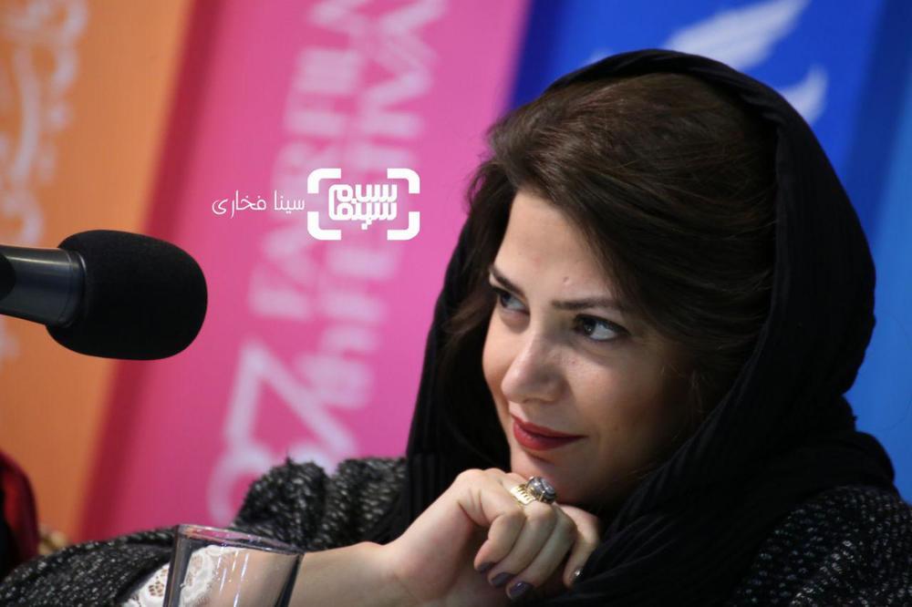 طناز طباطبایی در نشست خبری «طلا» در جشنواره فیلم فجر 37