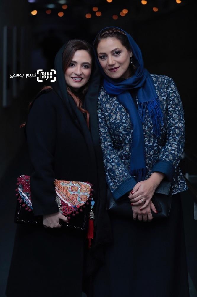 شبنم مقدمی و گلاره عباسی در اکران فیلم «شبی که ماه کامل شد» در جشنواره فیلم فجر 37