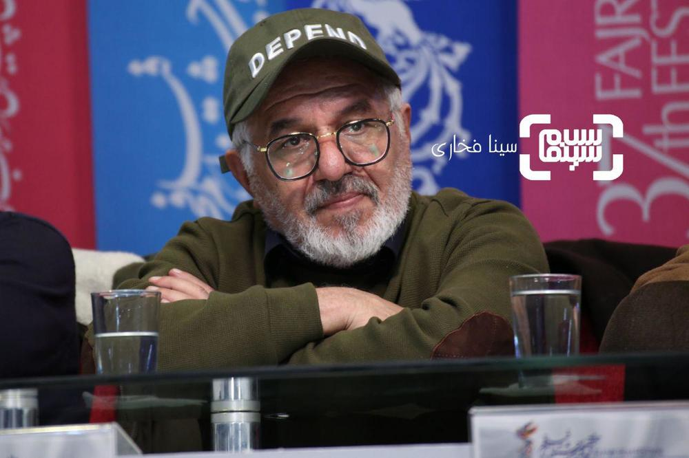 فرید سجادی حسینی در نشست خبری فیلم «شبی که ماه کامل شد» در جشنواره فجر 37