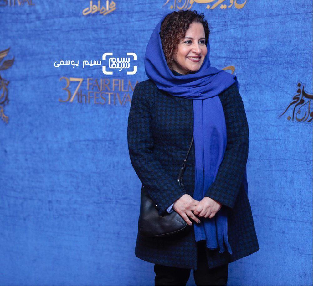 فرشته صدرعرفایی در اکران فیلم «شبی که ماه کامل شد» در جشنواره فجر 37