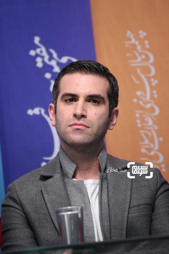 هوتن شکیبا در نشست خبری «شبی که ماه کامل شد» در جشنواره فیلم فجر 37