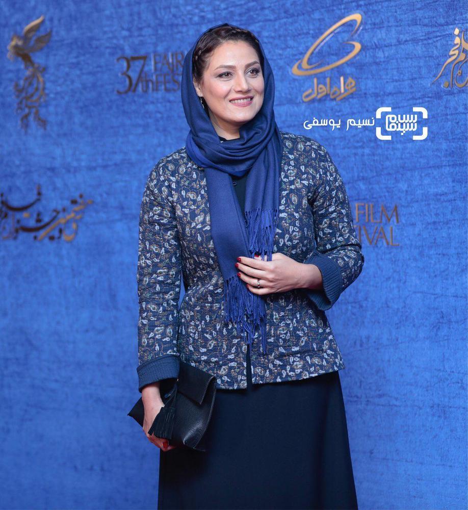 شبنم مقدمی در اکران فیلم «شبی که ماه کامل شد» در جشنواره فیلم فجر 37