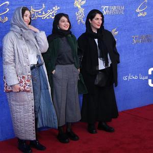 بهناز جعفری، صدف عسگری و فرشته حسینی در اکران فیلم «یلدا» در جشنواره فجر 37