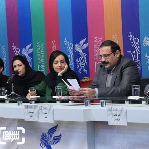 یاسر طالبی، الهه نوبخت و فرزانه فتحی در نشست مستند «دلبند» در جشنواره فجر 37