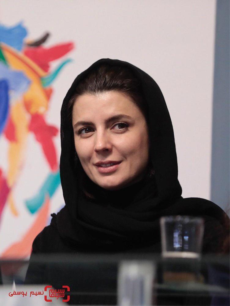 لیلا حاتمی در نشست خبری «مردی بدون سایه» در جشنواره فجر 37
