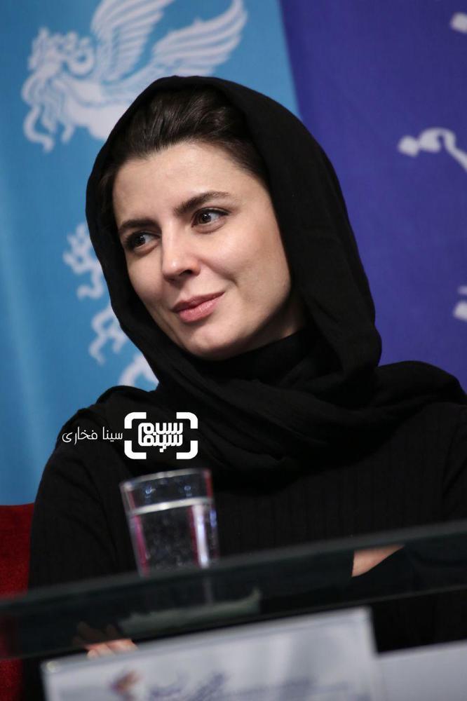لیلا حاتمی در نشست خبری فیلم «مردی بدون سایه» در سی و هفتمین جشنواره فجر
