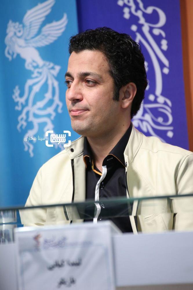 مهدی زمین پرداز در نشست خبری «دیدن این فیلم جرم است!» در جشنواره فجر 37