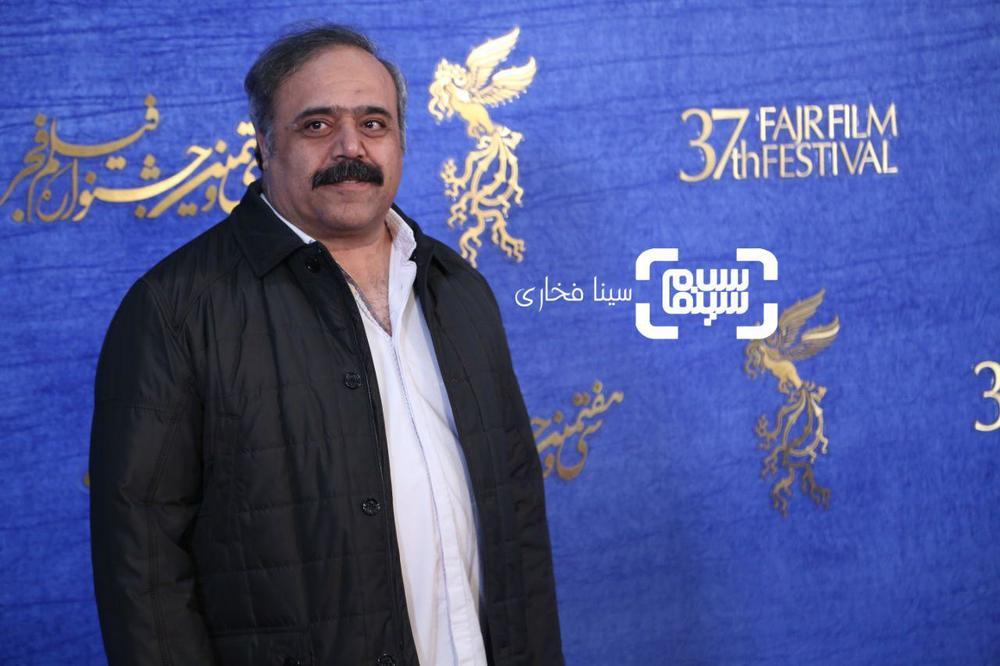 مرتضی زارع در اکران فیلم «دیدن این فیلم جرم است!» در جشنواره فجر 37