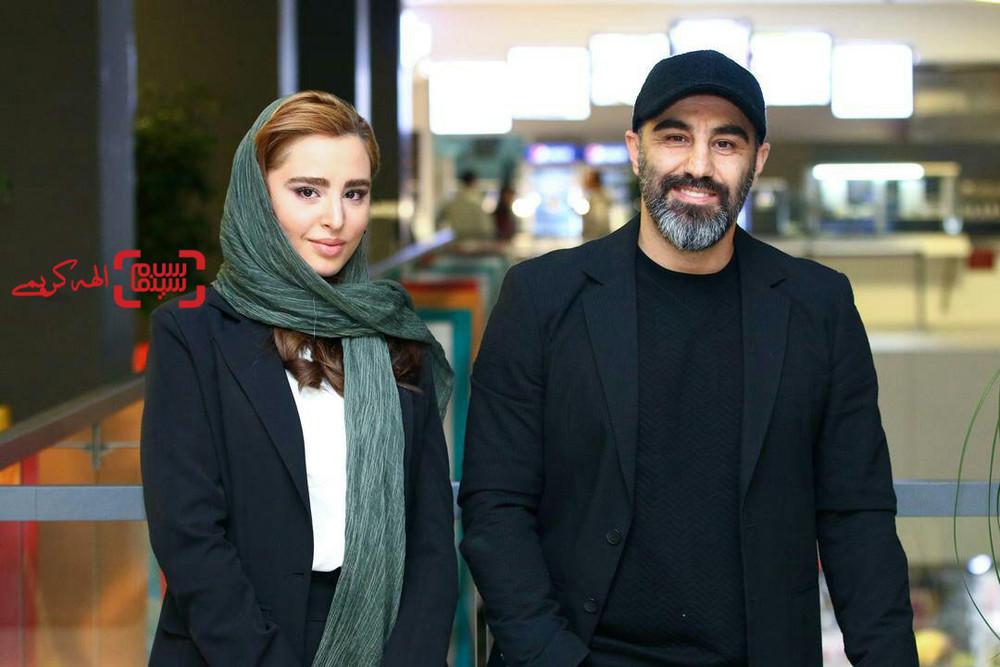 محسن تنابنده و زهرا بهروزمنش در اکران فیلم «قسم» در سینما چارسو در جشنواره فیلم فجر 37
