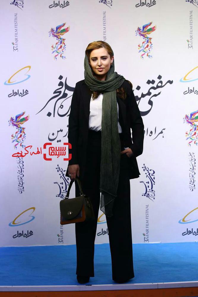 زهرا بهروزمنش در اکران فیلم «قسم» در سینما چارسو در جشنواره فیلم فجر 37