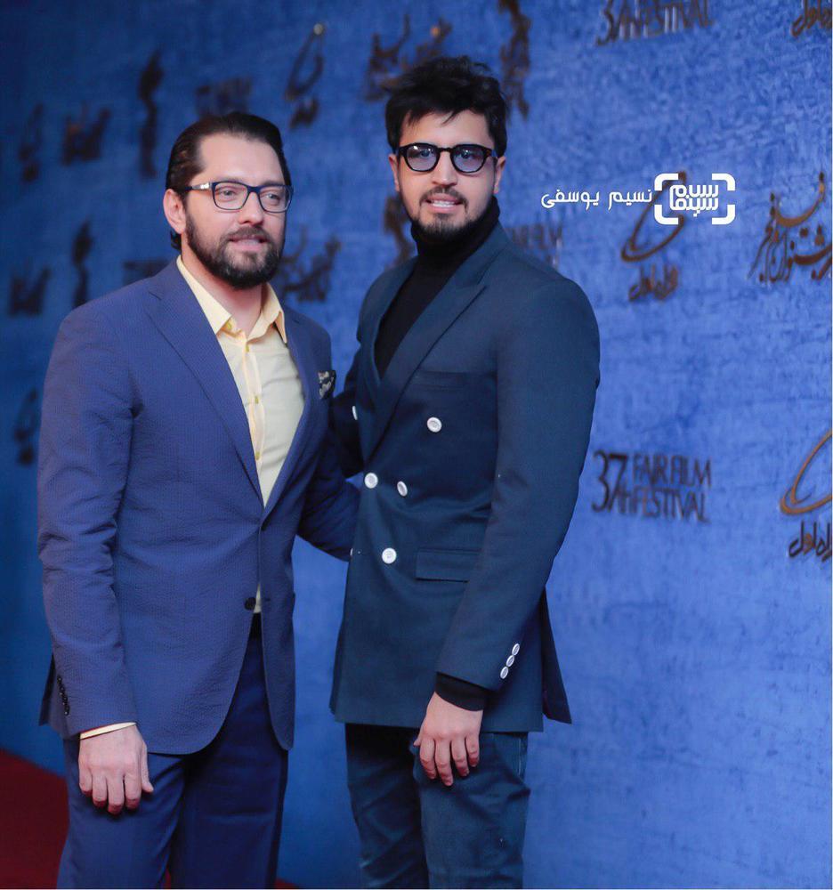 بهرام رادان و مهرداد صدیقیان در اکران فیلم «ایده اصلی» در جشنواره فیلم فجر 37
