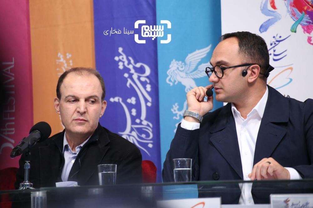 سیدجمال ساداتیان و احسان کرمی در اکران فیلم «متری شیش و نیم» در جشنواره فجر 37