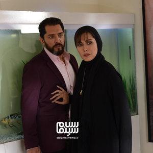 مهتاب کرامتی و بهرام رادان در نمایی از قسمت دوم سریال «رقص روی شیشه»