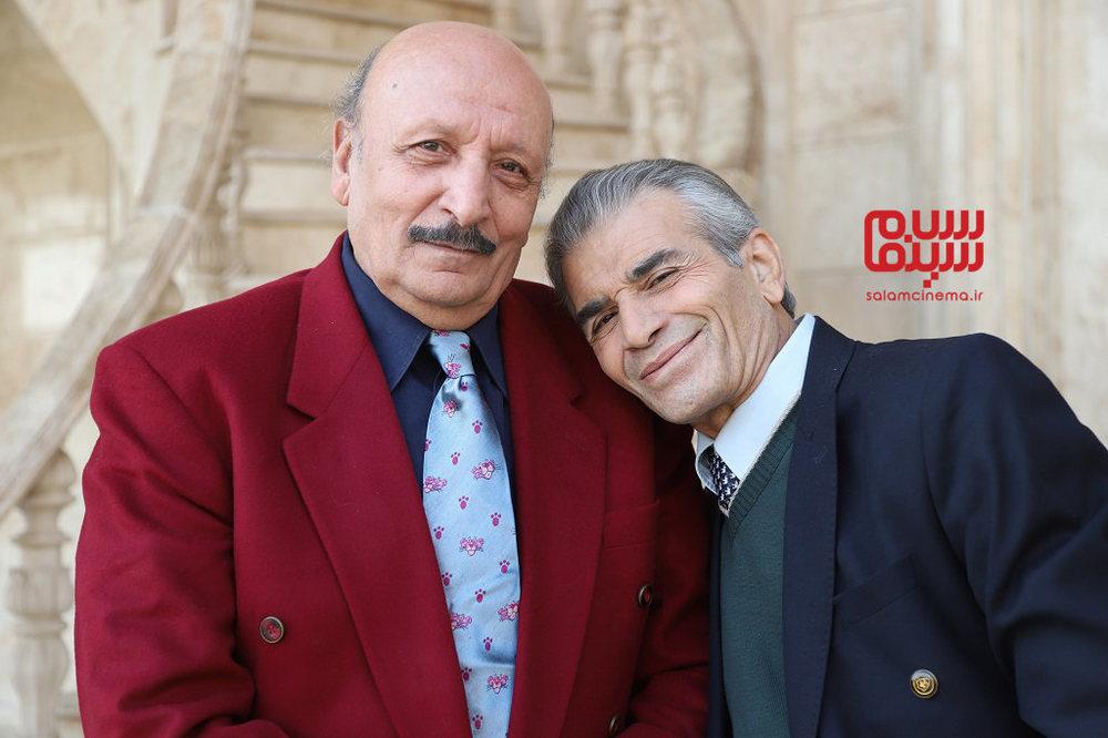 محمد شیری و اصغر سمسارزاده در فیلم «لازانیا»