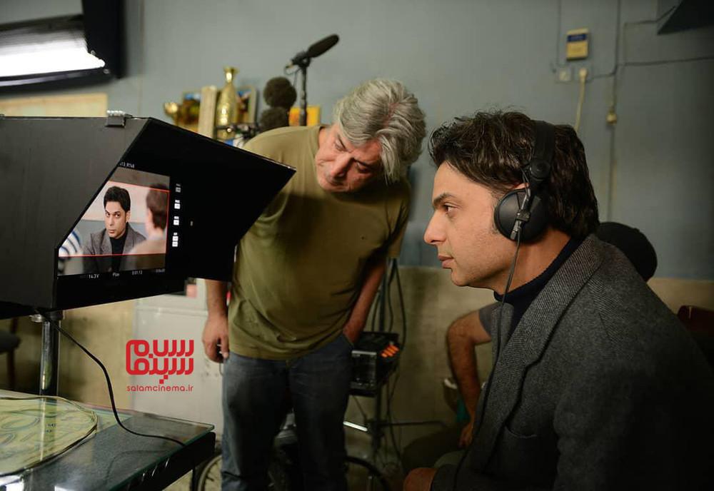 ایرج شهرزادی و پیمان معادی در پشت صحنه فیلم «بمب یک عاشقانه»