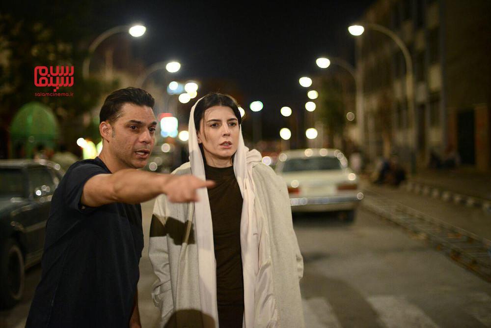 لیلا حاتمی و پیمان معادی در پشت صحنه فیلم «بمب یک عاشقانه»