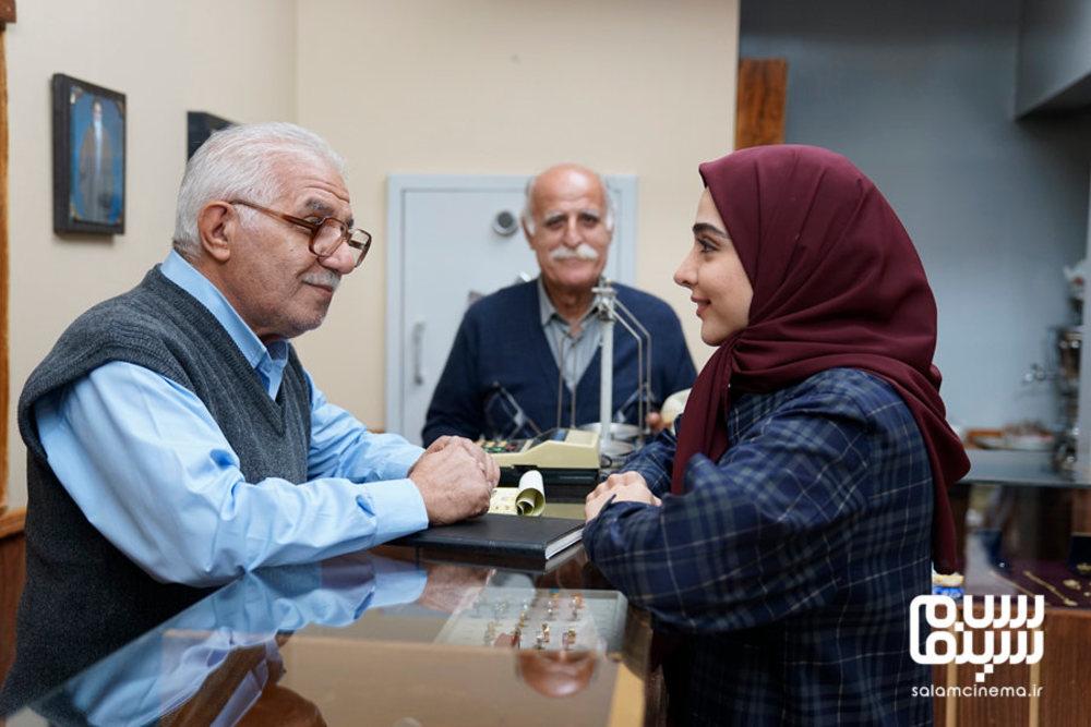 فرید سجادی حسینی و المیرا دهقانی در سریال «لحظه گرگ و میش»