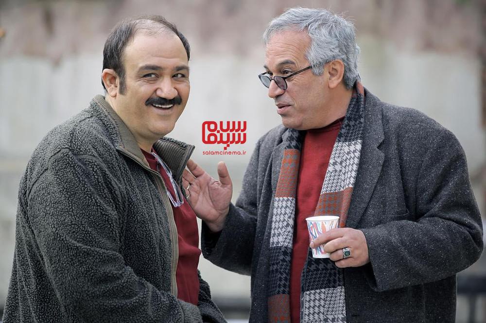 محمدحسین لطیفی و مهران غفوریان در پشت صحنه سریال «زوج یا فرد»