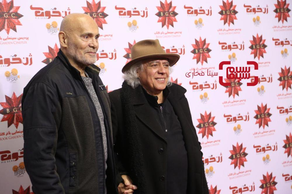 سیروس الوند و جمشید هاشم پور در اکران خصوصی فیلم «ژن خوک»